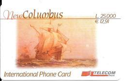 CARTE- PREPAYEE-ITALIE-TELECOM -12,91€-NEW COLOMBUS-31/07/2003-Plastic Fin-GRATTE--TBE - Italie