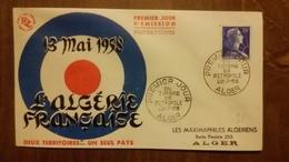 Premier Jour  FDC..  TIMBRE  DE  METROPOLE  ..L'ALGERIE FRANCAISE .. ALGER  1958 - Other