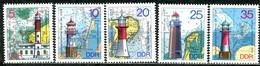DDR - Mi 2045 / 2049 - ** Postfrisch (A) - Leuchttürme - DDR