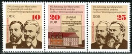 DDR - Mi 2050 / 2052 = WZd 328 - ** Postfrisch (A) - Zusammenschluß Der Arbeiterparteien - DDR