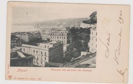 NAPOLI, Vista Dal Corso Vitt. Emanuele,  Ediz. Dr. Trenkler  N. 4482  - F.p. - Fine '1800 - Napoli