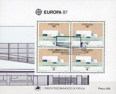 Villa Do Conda EUROPA 1987 Portugal Block 54 O 10€ Architektur Bank Hojitas Ss Bloque Architectur Sheet M/s Bf CEPT - Architecture