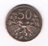 50 HALLER  1948  TSJECHOSLOWAKIJE /2424/ - Tchécoslovaquie