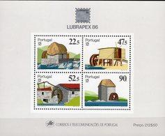 EXPO 1986 Mühlen Portugal Block 53 ** 12€ LUBRAPEX Gemälde Mühle Braga S/s Bloc Paintings Hoja Sheet Bf Philatelics - Expositions Philatéliques