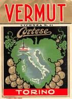 """07748 """"VERMUT CORTESE - TORINO"""" ETICH. ORIG. - Etichette"""