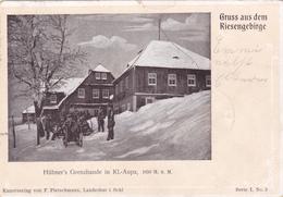 543/ Gruss Aus Dem Riesengebirge, Hübner's Grenzbaude In Kl. Aupa, 1901 - Czech Republic