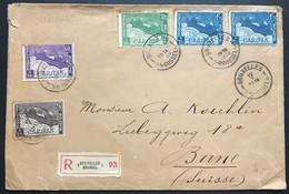 N. 249-252, Serie Barquette Sauf N. 253, Sur Enveloppe Bruxelles 12/1/1928 Pour Suisse (Berne) - Lettres & Documents