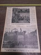 AN 20/30 LE ROI ET LE PRESIDENT DE LA REPUBLIQUE AUX FETES DE LILLE - Vieux Papiers