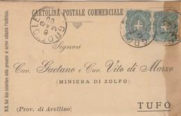 Grottole. 1900. Annullo Grande Cerchio GROTTOLE, Su Cartolina Postale Commerciale - 1878-00 Umberto I