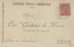 Macchiagodena. 1899. Annullo Grande Cerchio MACCHIAGODENA, Su Cartolina Postale Commerciale - 1878-00 Umberto I