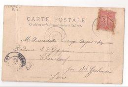 CLUNY : CPA De 1904 :  Cachet Boite Rurale  K   ( Non Identifiée ) : Saône Et Loire - Poststempel (Briefe)