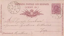 S. Agata Di Puglia. 1891. Annullo Grande Cerchio S. AGATA DI PUGLIA, Su Cartolina Postale Con Testo - 1878-00 Umberto I