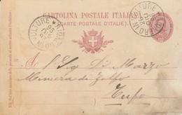 Rionero In Vulture. 1896. Annullo Grande Cerchio RIONERO IN VULTURE, Su Cartolina Postale Con Testo - 1878-00 Umberto I