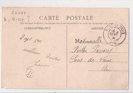 CLUNY : CPA De 1906 :  Cachet Boite Rurale  B   ( Non Identifiée ) : Saône Et Loire - Poststempel (Briefe)