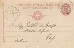Tricase. 1900. Annullo Grande Cerchio TRICASE (LECCE), Su Cartolina Postale Con Testo - 1878-00 Umberto I