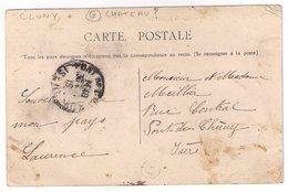 CLUNY : CPA De 1915 :  Cachet Boite Rurale  G   ( Non Identifiée ) : Saône Et Loire - Poststempel (Briefe)