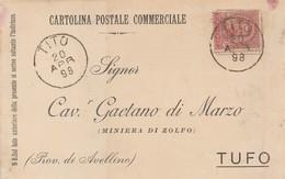 Tito. 1898. Annullo Grande Cerchio TITO, Su Cartolina Postale Commerciale - 1878-00 Umberto I