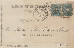 Grassano. 1900. Annullo Grande Cerchio GRASSANO, Su Cartolina Postale Commerciale - 1878-00 Umberto I