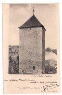 CLUNY : CPA De 1905 :  Cachet Boite Rurale  F3   ( Non Identifiée ) : Saône Et Loire - Poststempel (Briefe)
