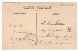 CLUNY : CPA De 1912 :  Cachet Boite Rurale  J   ( Non Identifiée ) : Saône Et Loire - Poststempel (Briefe)
