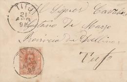 Tito. 1898. Annullo Grande Cerchio TITO, Su Lettera Affrancata Con C.20 - Marcofilie