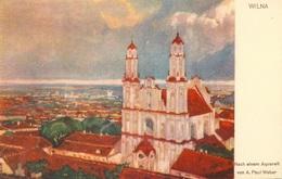Vilnius - Wilna  Aquarell Wieber - Lituania