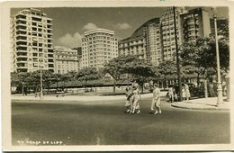 RIO PRAÇA DO LIDO, BRASIL. POSTAL CPA CIRCULATED 1952 URUGUAY - LILHU - Copacabana
