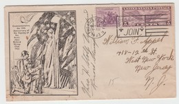 USA 1933 COMMEMORATING ANNIVERSARY OF THE SINGING OF ARMISTICE RECORD STAMP CLUB RED CROSS COVER - Covers & Documents