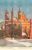 Vilnius - Wilna St. Annenkirche   Pinx Von G. Paul - Lituania