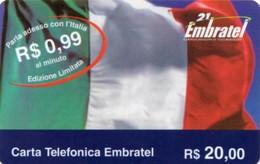 *ITALIA - EMBRATEL* - Scheda Usata - Italia