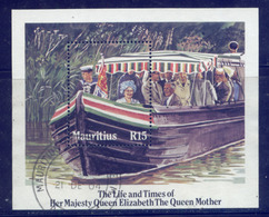 Mauritius (Maurice) 1985 85th Birthday Queen Mother MS Miniature Very Fine Used - Maurice (1968-...)