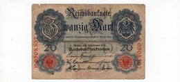 Allemagne - 20 Mark - 19.02.1914 - [ 2] 1871-1918 : Empire Allemand
