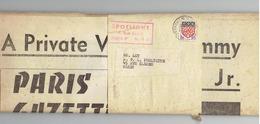 PARIS GAZETTE Journal ( Franco -anglais ) Avec Bande- Cachet  Spotlight - Sammy Davis Jr - Newspapers