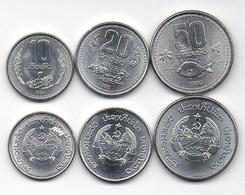 Laos - Set 3 Coins 10 20 50 Att 1980 UNC Lemberg-Zp - Laos