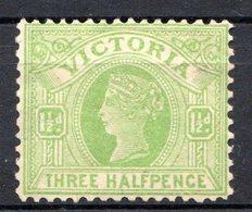 VICTORIA - (Colonie Britannique) - 1890-98 - N° 103 - 1 1/2 P. Vert-jaune - (Victoria) - 1850-1912 Victoria