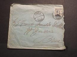 REGNO - BUSTA - 1911 RE 15 C., Dentellatura Spostata(busta Bruttina)  - TIMBRATA/USED - 1900-44 Vittorio Emanuele III