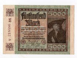 Allemagne - 5000 Mark - 02.12.1922 - [ 3] 1918-1933 : République De Weimar