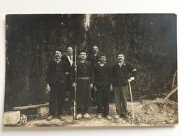 Photo Vigilante Civils Armes Sabots Wooden Shoes Gewehr Bajonett - Guerre 1914-18