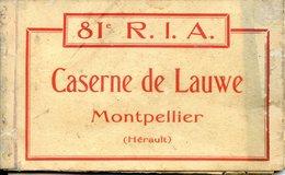(34) Carnet 10 CPA  Caserne De Lauwe Complet (Hérault)  81eme R I A   MONTPELLIER - Montpellier