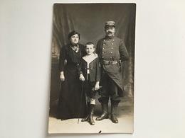 Photo Soldat Francais Regiment 102 Paris Chartres Avec Familie Enfant Uniform - Guerre 1914-18