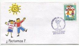 PACTO POR LA INFANCIA - SOBRE / ENVELOPE COLOMBIA 1997 FDC- LILHU - Enfance & Jeunesse