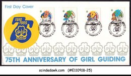 SINGAPORE - 1985 75th ANNIVERSARY OF GIRL GUIDING 4V FDC - Singapour (1959-...)
