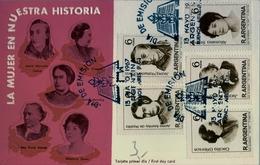 1967 , ARGENTINA , TARJETA DE PRIMER DIA , LA MUJER EN NUESTRA HISTORIA. - Argentina