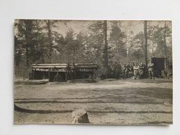 Photo Unterstand Schutzengraben Tranchee In Forest Foto Ernst Lohn Juterbog Altes Und Neues Lager - Guerre 1914-18