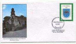 SANTUARIO DEL MILAGROSO SEÑOR DE LA HERMITA MARIGUITA TOLIMA - SOBRE / ENVELOPE COLOMBIA 1996 FDC- LILHU - Eglises Et Cathédrales