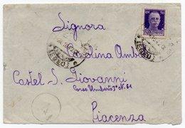 GREECE/ITALIAN OCCUPATION - COVER TO ITALY / LERO PORTOLAGO CANCEL 24.10.42 / CENSORED - 1900-44 Vittorio Emanuele III