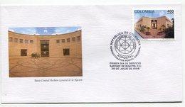 PATIO CENTRAL ARCHIVO GENERAL DE LA NACION - SOBRE / ENVELOPE COLOMBIA 1996 FDC- LILHU - Autres