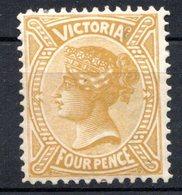 VICTORIA - (Confédération Australienne) - 1901 - N° 122 - 4  P. Bistre-olive - (Victoria) - 1850-1912 Victoria