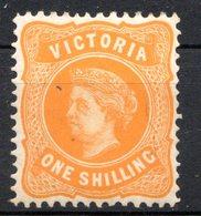 VICTORIA - (Confédération Australienne) - 1901 - N° 124 - 1 S. Jaune-orange - (Victoria) - 1850-1912 Victoria