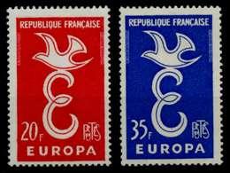FRANKREICH 1958 Nr 1210-1211 Postfrisch X82AF32 - France